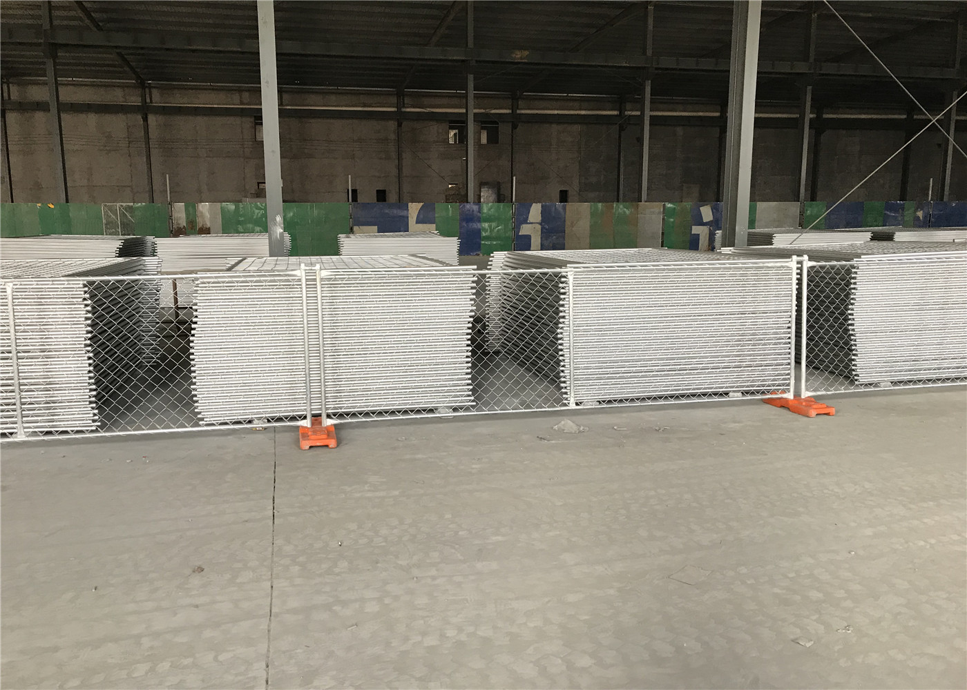 6 X10 Chain Link Construction Fencing Panels Od32mm Wall