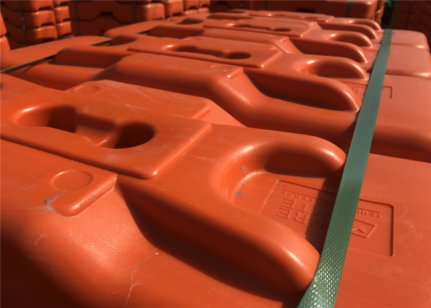 40mm Outer diameter Temporary Fencing Base HDPE 5502 center distance  75mm/3