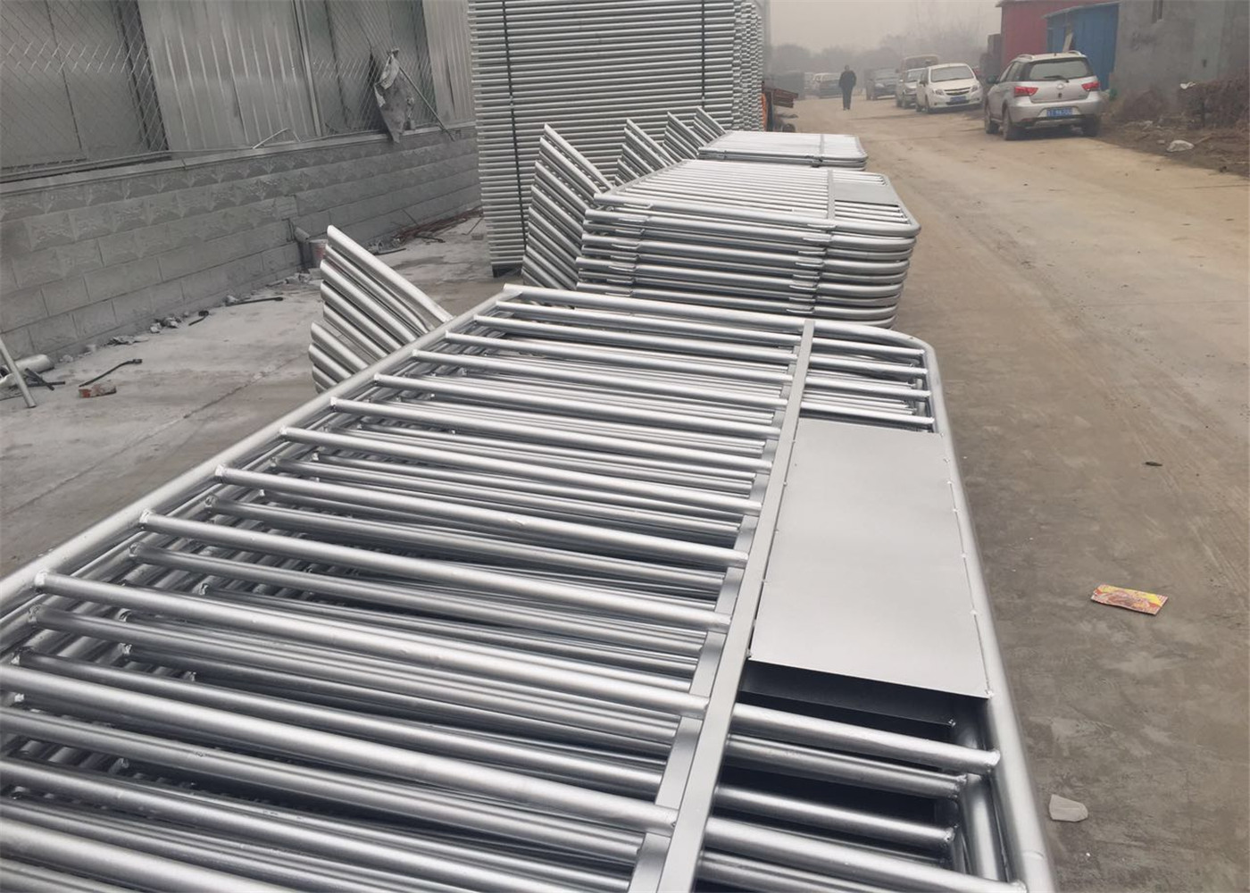 Galvanized Temporary Fence Crowd Control Barrier