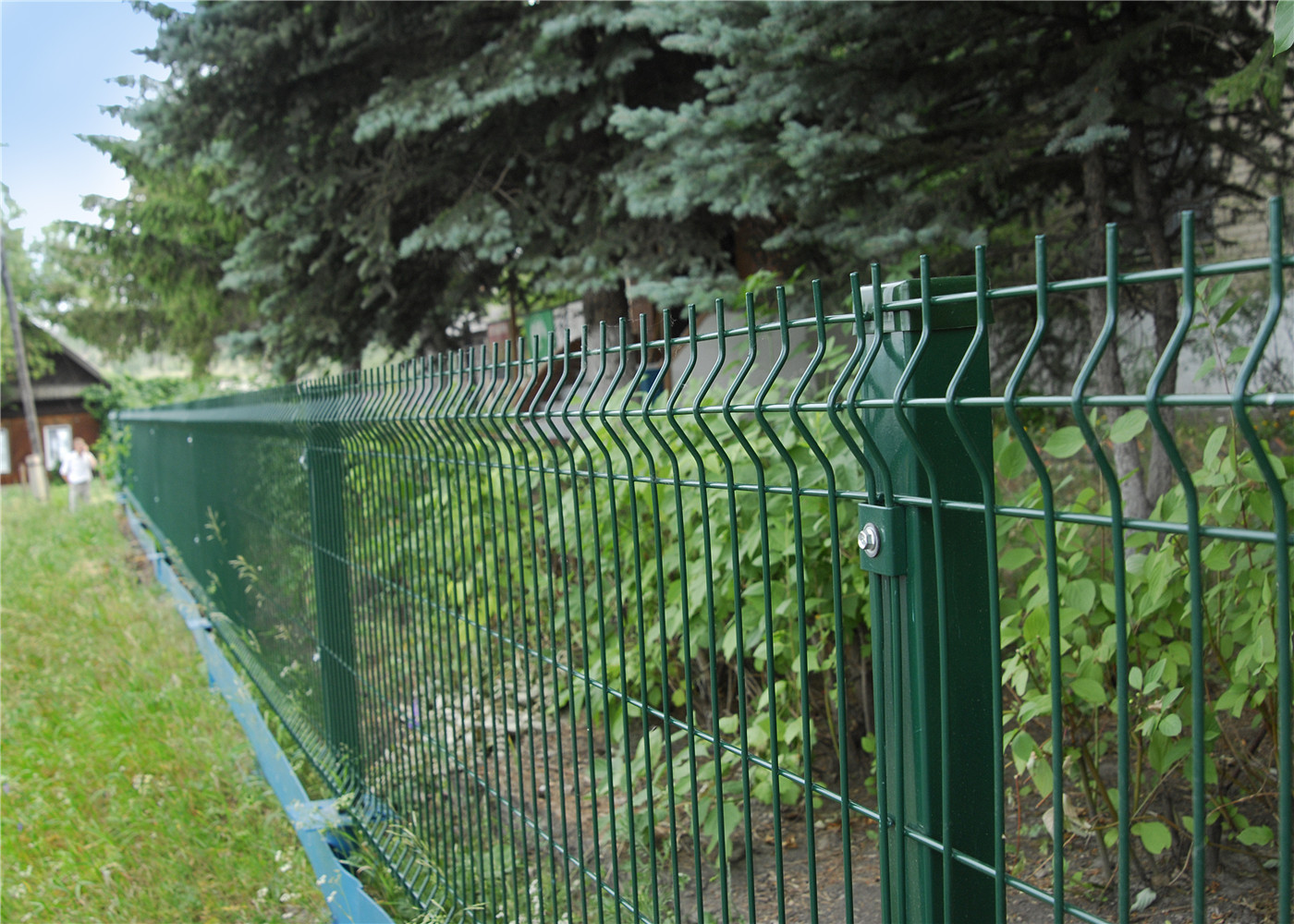 Welded Wire Bends Fence Panel Pvc Coated Wire Mesh