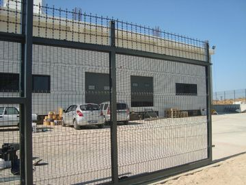 Green Color PVC Coated Welded Wire Mesh Panels/PVC Coated Prison 358 Security Fencing export to malaysia ,