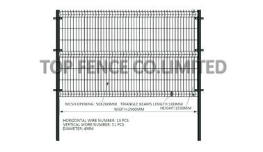 Hot dipped Galvanized Wire Fence 2200x3000 mesh opening 50mm x 200mm