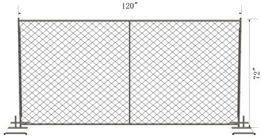 "chain link temporary construction fence panels 6FT X 10F Mesh 2 3/8 "" x 2 3/8"" ( 60mm x 60mm ) x 12 gauge wire"