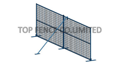 "6ft x 10ft Weld mesh 2"" x 4"" interpon powder coated temporary fence panels for construction"