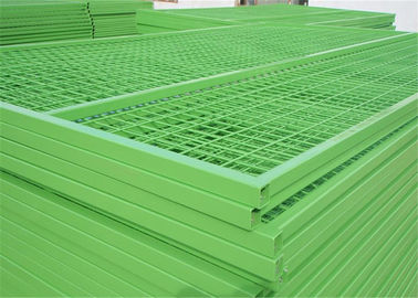 "Height 6'/1830mm Width 9.5'/2900mm 6'x9' construction temp fence  3""x6"" 75mm x 100mm*3.50mm Powder Coated  Green"