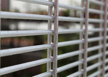 Galvanized Double Wire Fencing / Twin Mesh Panel Fencing Systems (ISO9001: 2008),Powder Coated Mesh Fence Panels
