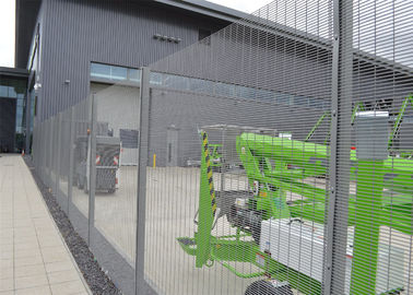 Security fence: military site pvc coated clearvu no climb fence
