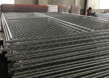 Cross Brace Temporary Chain Link Construction Fence Panels Galvanized 6′x12′ Chain Link Temporary Fencing
