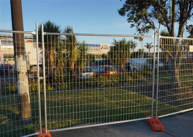 Orange Powder Coated Temporary Construction Fence Panels OD 32mm/41.2mm Fortress Melbourne wall thick 1.5mm 2.1m x 2.4m