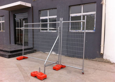 OD40mm temporary fencing panels 2.1mx2.4m AS4687-2007 Mesh 60mm*150mm*2.5mm wire diameter