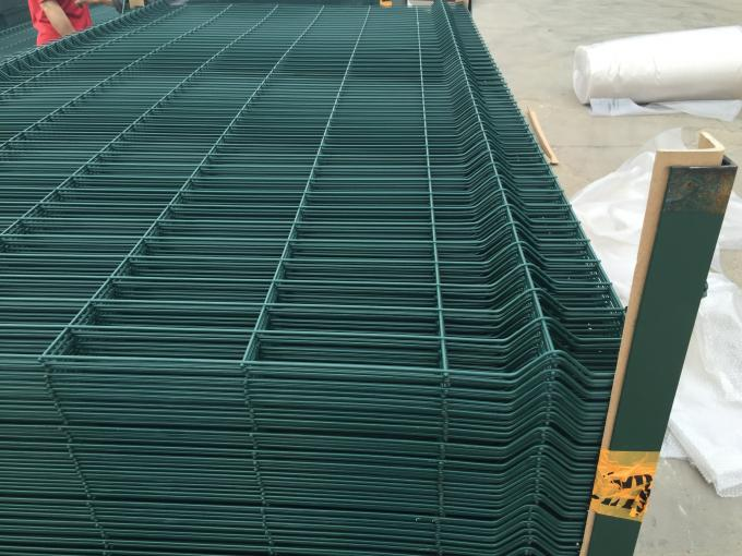 6 Gauge, 2-inch x 6 inches,1.8 m x 2.4 m, Three peaks curved welded wire mesh fence panel