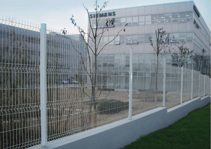 cheap welded wire mesh curved fence / high security fence panels ...
