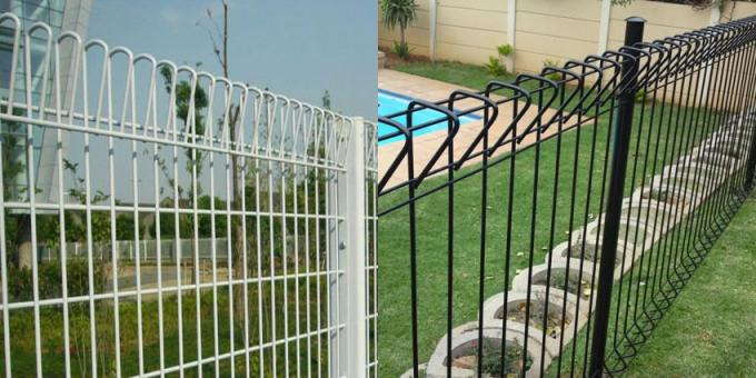 Alibaba.com hot dipped galvanized BRC welded mesh panel fencing, roll top fence, decorative public park fence