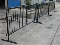 Flat Steel Plate Design Crowd Control Barriers 1100mm x 2200mm OD 25mm x 2.0mm upright OD 19x1.2mm spacing 200mm