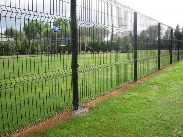 PVC coated Wire Mesh Fence Panels ,1230mm ,1530mm ,1830mm ,2030mm,2230mm with Curved /V beams Anti Climb Mesh Fence Pane