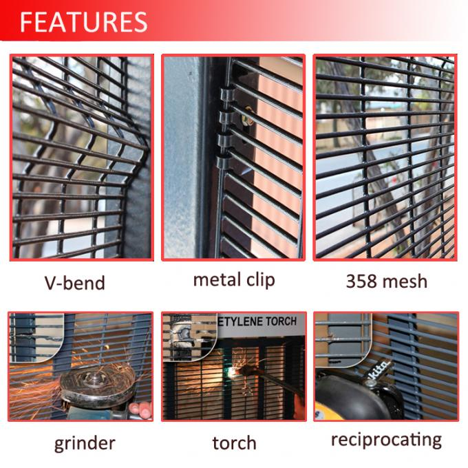 china supplier anti climb prison 358 fence / high security fence / 358 fence