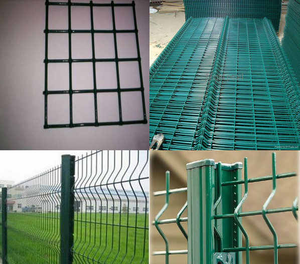 3D Wire mesh fence panel / 4 gauge hot dip galvanized wire mesh