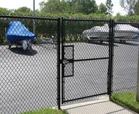 Black Chain Link Fence Gates