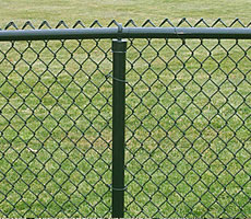 Green Color PVC Chain link Fence
