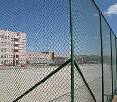 PVC Chain link Fence used for security as factory wall