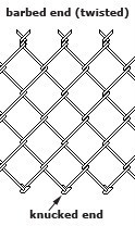 3.76mm - 50x50mm chain link fence Cyclone Fence For Sale