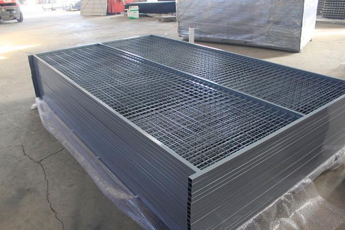 "Interpon Powder  Coated Blue Construction Temporary Fence Height 6'/1830mm*Width9.5'/2900mm Spacing4""x12""/100mmx300mm"