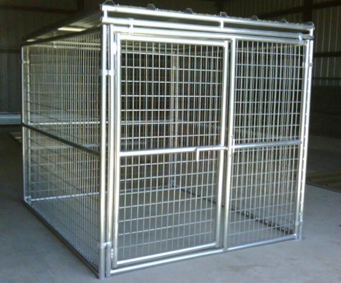 5' W X 10' D X 6' H Weld Wire Dog Kennel Mesh 50mmx100mm diameter 4.00mm