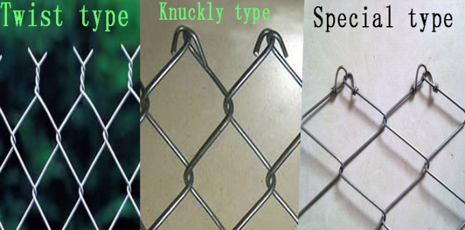 Chain Link Fence Galvanized Iron Wire Mesh Stainless Steel Knuckly Twist Type