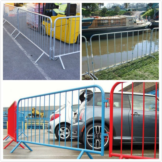Galvanized stainless steel construction barricades/used crowd control barriers