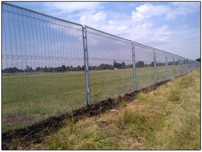 Highly transparent ClearVu Security Fence 358 Anti Climb Wire Mesh Fence Panels
