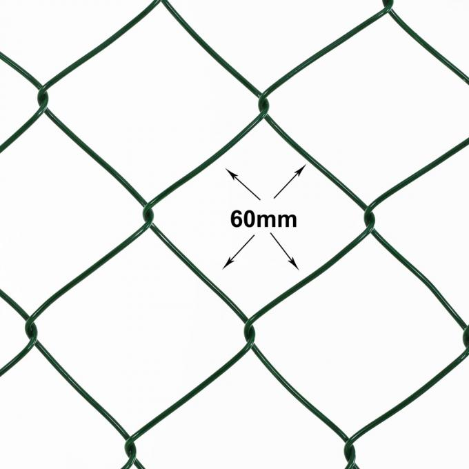 15m length 150cm height pvc coated garden temporary chain link fence