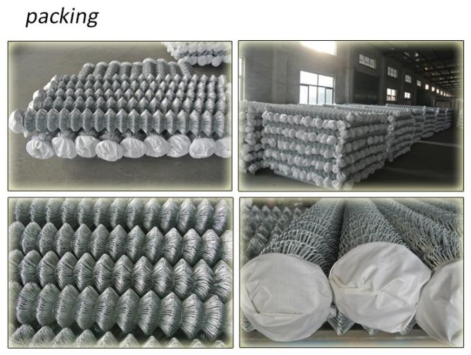 Diamond Mesh Fencing Galvanized Wire Powder Coated Chain Link Fencing