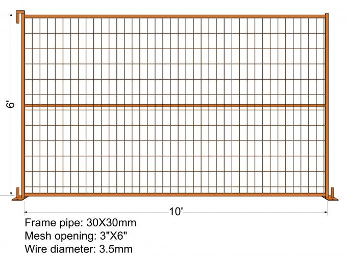 """VICORIA SECRET"" TEMPORARY FENCE H6'/1830mmxL10'/3050mm mesh Aperture 2""x4""/50x100mm"