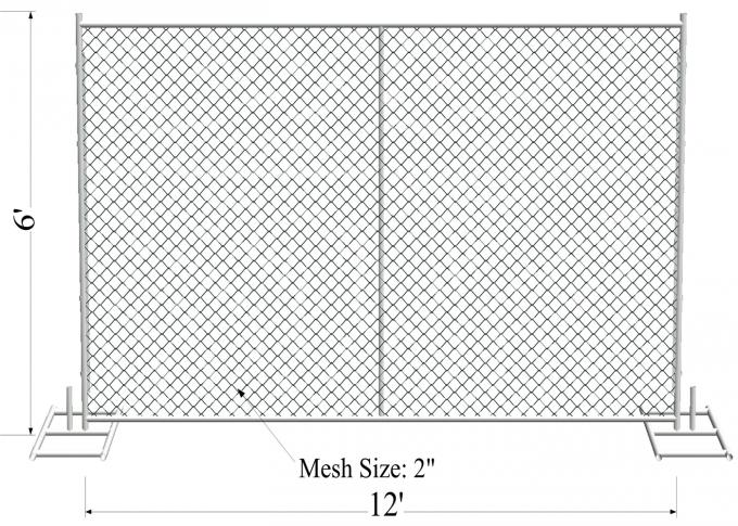 "8'X14' temporary construction fence mesh 2½""x2½""(63mmx63mm) and tube 1¼""(32mm) 1⅜""(35mm) 1½""(38mm) wall thick 17ga"