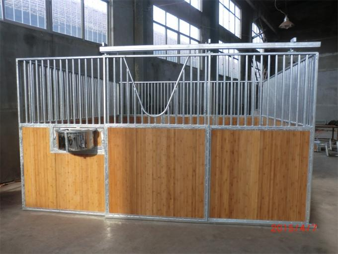 Galvanized Portable Indoor Outdoor Wooden Horse Stable Panel Fence