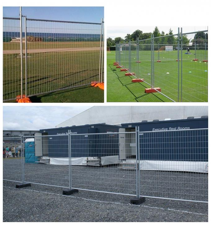 Construction Temp Fence Panels 2.1mx2.4m OD 28mm wall thick 2.00mm Mesh 60mm*150mm*diameter 4.00mm