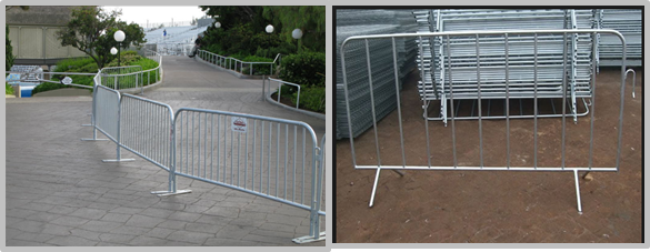 Easily Assembled Temporary Mesh Fence For Concerts / Festivals / Gatherings