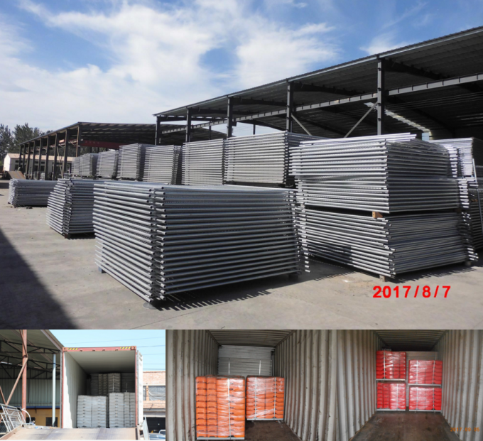 Hot dipped Galvanized Construction Fencing Panels 2.1mx3.6m Super Temp Fence Paneles -L