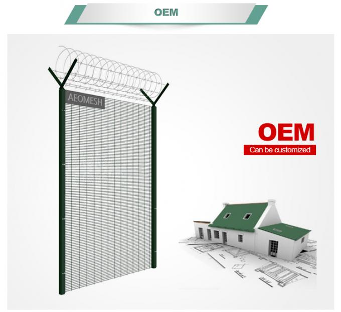 Factory price dark green color security 358 fence