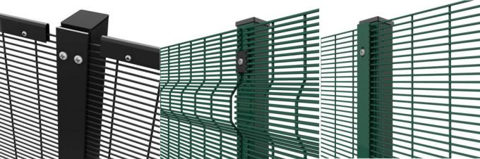 358 High Security Anti Climbing Garden Steel Welded Wire Mesh Fence Panel