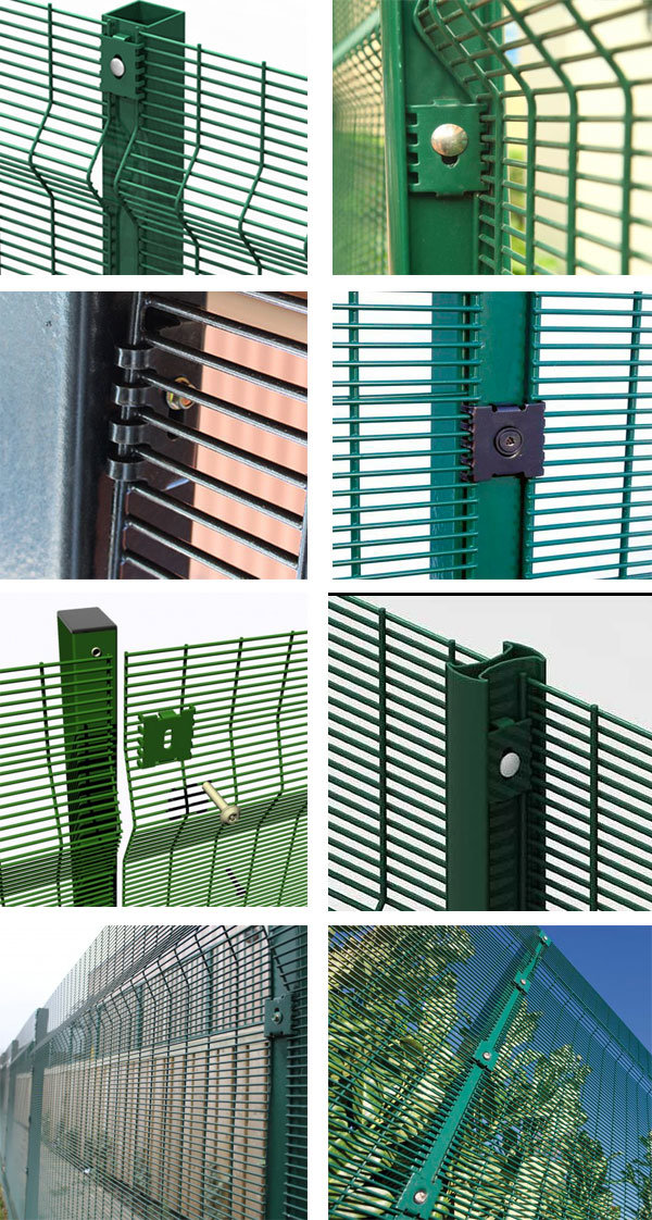 High Quality Barbed Wire Mesh 358 Fence / Safety Airport Fence / 358 Anti Climb Fence