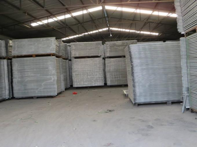 Professional Portable Temporary Fence Panels With Temporary Fence Stay