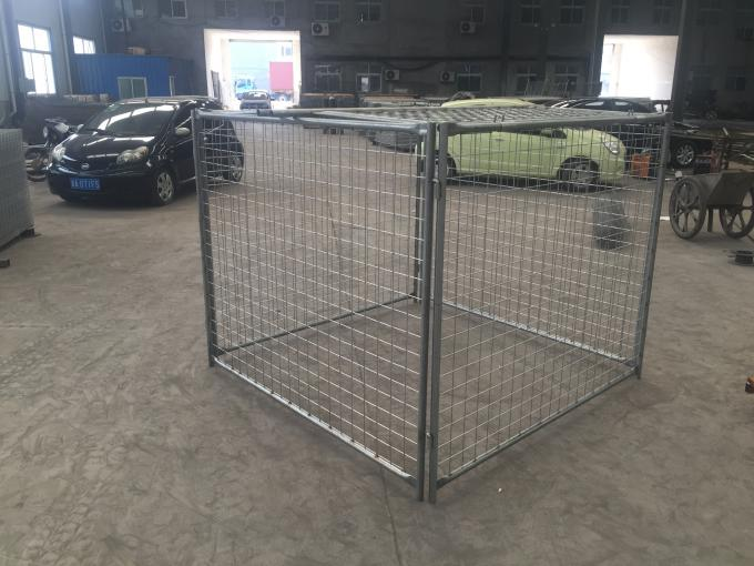 Large Temporary Fence Panel Industrial Waste Bins Cage 1500mm X 2000mm X 2000mm