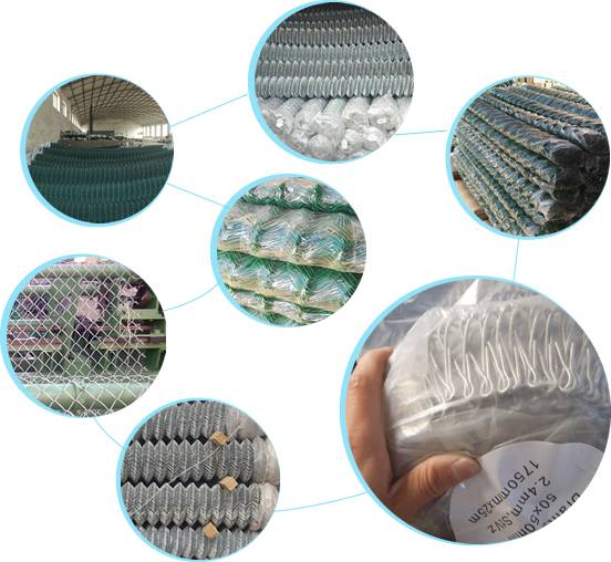 Our chain link fence products are manufactured by advanced chain link machine.