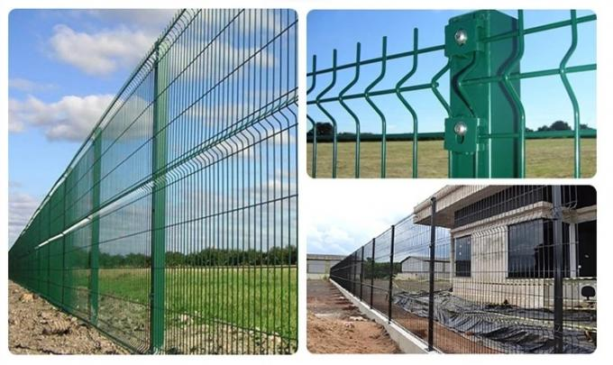358 PVC coated welded wire mesh black fence