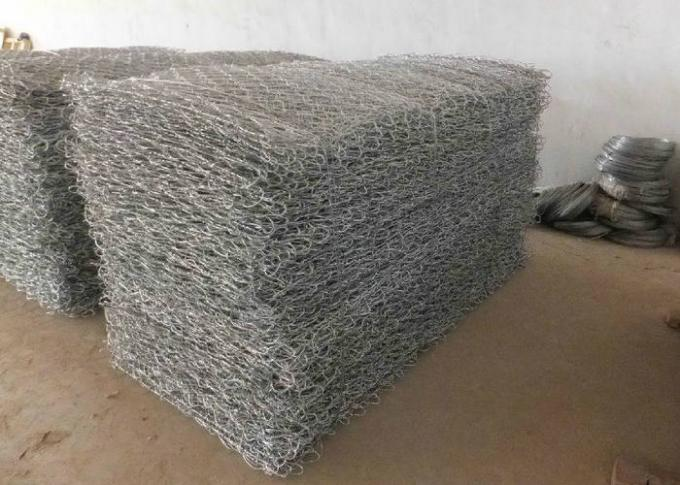 Heavy Duty Hexagonal Mesh Gabion Reno Mattress 60X80mm Size For Channel Canal Bed