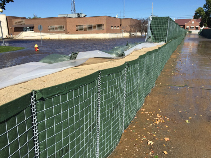 Mil 3 Galvanized Hesco Bastion , Hesco Flood Mitigation Barrier Wall