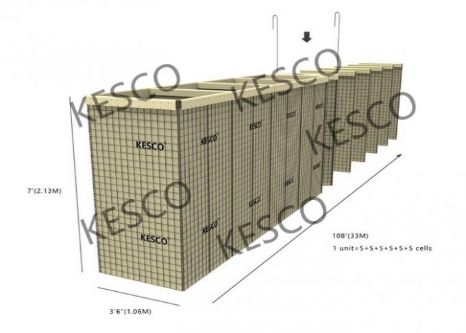 Mil 12 Hesco Barriers For Flood Control And Military Fortifications