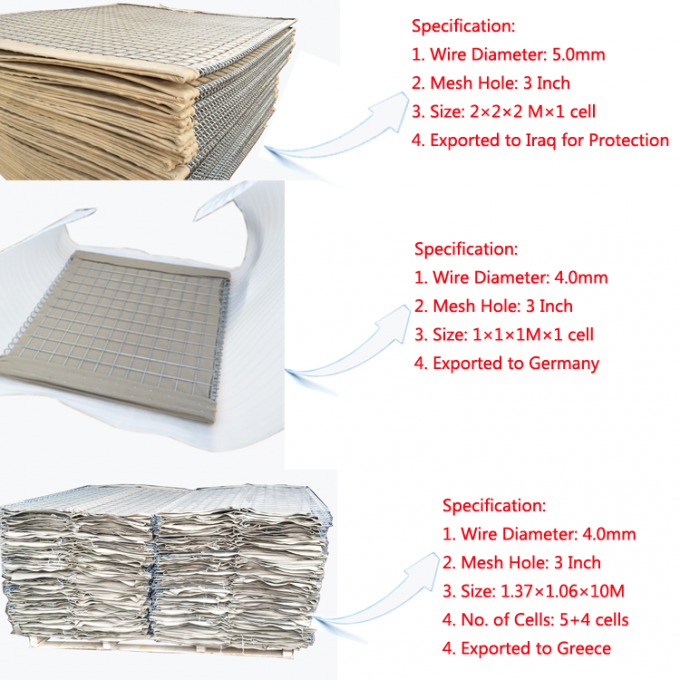 Hesco Weld Mesh Gabion Mil 10 With Non Woven Geotextile Fabric