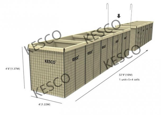 Hesco Bastion Barrier Flood Barrier Control Mil 8 Military Sand Wall